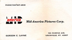 Gordon C. Layne's business card - from the collection of Craig Layne